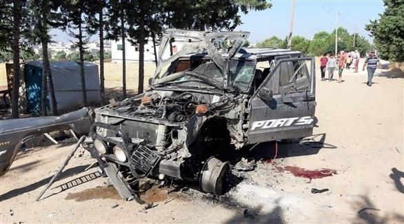 سيارة في سوريا بعد تفجيرها (أرشيف)