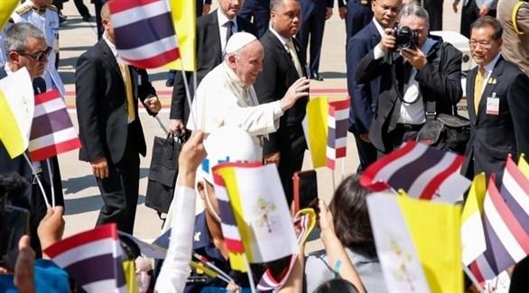 بابا الفاتيكان البابا فرنسيس يصل تايلاند (المصدر)