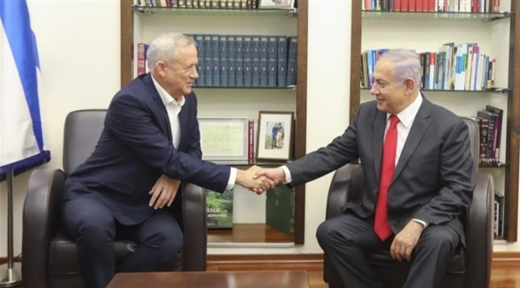 زعيما الليكود بنيامين نتانياهو و أزرق أبيض بيني غانتس (أرشيف)