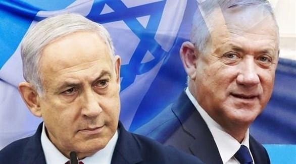زعيما حزب أزرق أبيض بيني غانتس والليكود بنيامين نتانياهو (أرشيف)