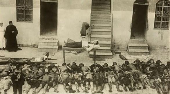 صورة قديمة لضحايا الإبادة العثمانية للأرمن في الحرب العالمية الأولى (أرشيف)