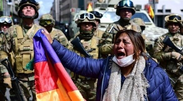 بوليفية في الاحتجاجات التي أطاحت بالرئيس السابق إيفو موراليس (أرشيف)