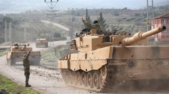 الجيش التركي يستخدم دبابات