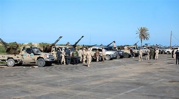 آليات مسلحة تابعة للجيش الليبي (أرشيف)