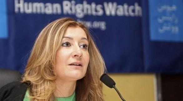 مديرة الشرق الأوسط في هيومن رايتس ووتش سارة لي ويتسون (أرشيف)