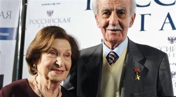 الجاسوسان السوفيتيان السابقان جيفورك وزوجته جوهر فارتانيان (أرشيف)