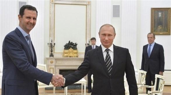 الرئيسان الروسي فلاديمير بوتين والسوري بشار الأسد (أرشيف)