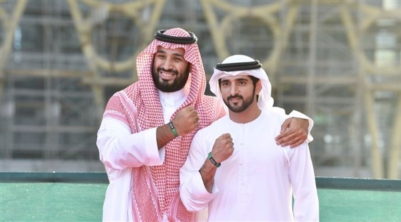 حمدان بن محمد وبجانبه محمد بن سلمان (وام)