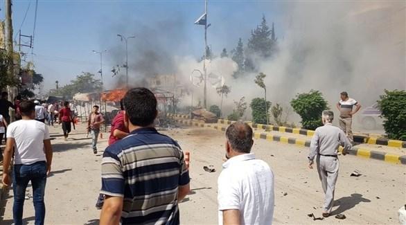 انفجار سيارة مفخخة بمنطقة تابعة لميليشيا أحرار الشام (أرشيف)