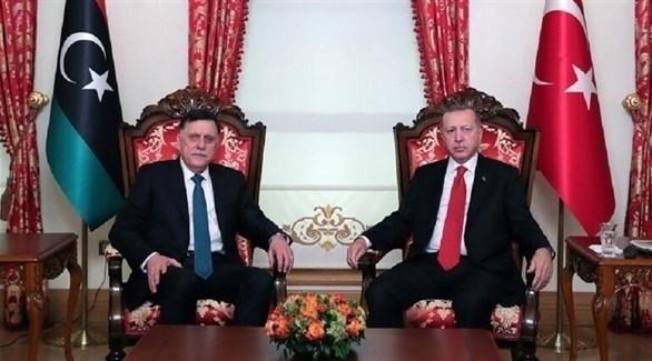 أردوغان وفايز السراج (أرشيف)