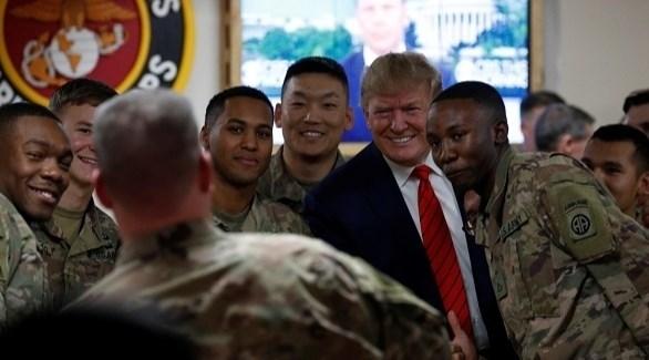 زيارة ترامب لقاعد باغرام الأمريكية في أفغانستان (أرشيف)