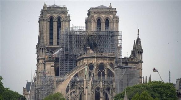 عمليات إصلاح في كاتدرائية نوتردام الفرنسية (أرشيف)