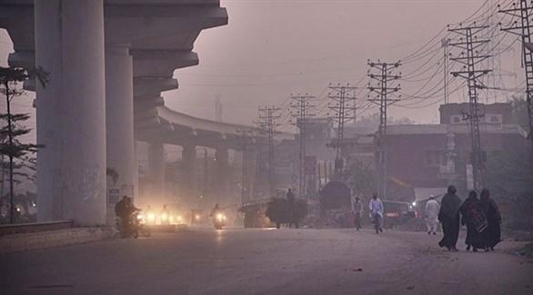 ارتفاع معدل تلوث الهواء في مدينة لاهور باكستانية (أرشيف)