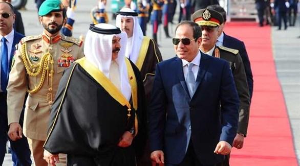 الرئيس المصري عبد الفتاح السيسي والعاهل البحريني الملك حمد بن عيسى آل خليفة (أرشيف)