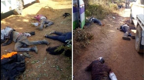 ضحايا الهجوم في بوركينا فاسو (تويتر)