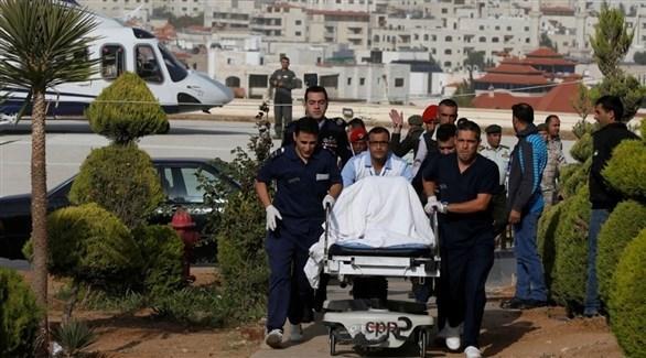 سائح مصاب في عملية الطعن بجرش،تم إحضاره إلى مركز الملك حسين الطبي في عمان (رويترز)