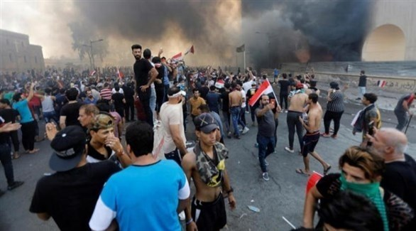 متظاهرون عراقيون (أرشيف)
