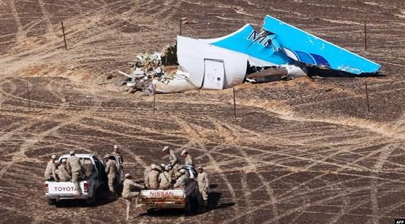 موقع سقوط الطائرة الروسية في سيناء (أرشيف)