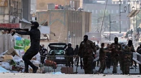 إصابة متظاهراً اشتباكات قوات الأمن 2019119134739514AM.j