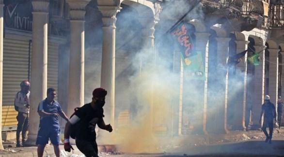 اشتباكات بين متظاهرين وقوات الأمن العراقية في بغداد (أرشيف)