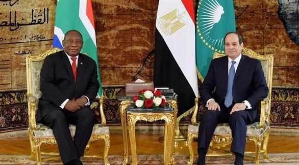 الرئيس عبد الفتاح السيسي مع رئيس جنوب أفريقيا