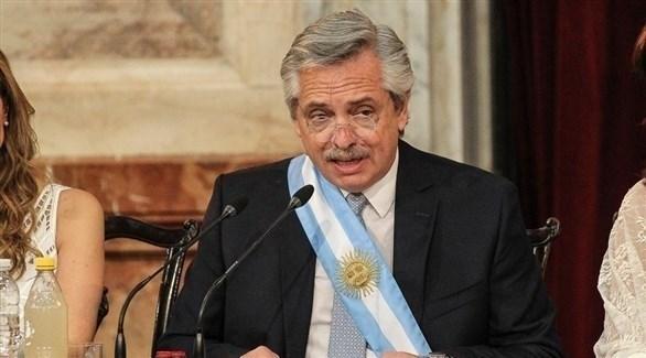 الرئيس الأرجنتيني الجديد ألبرتو فرنانديز (أرشيف)