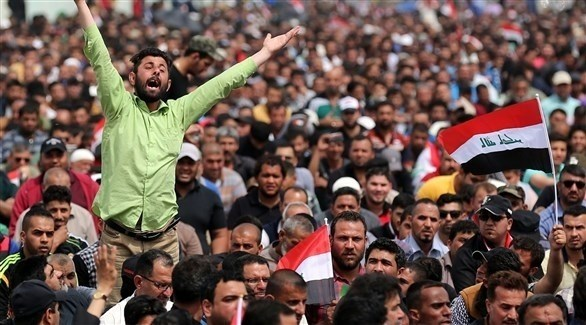 متظاهرون عراقيون في بغداد (أرشيف)