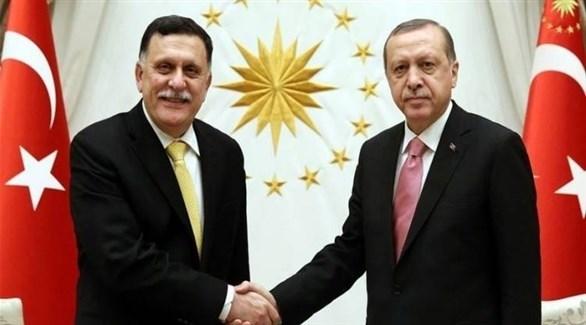 أردوغان والسراج(أرشيف)