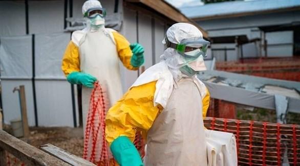 عاملان في مجال الصحة داخل الكونغو (أرشيف)