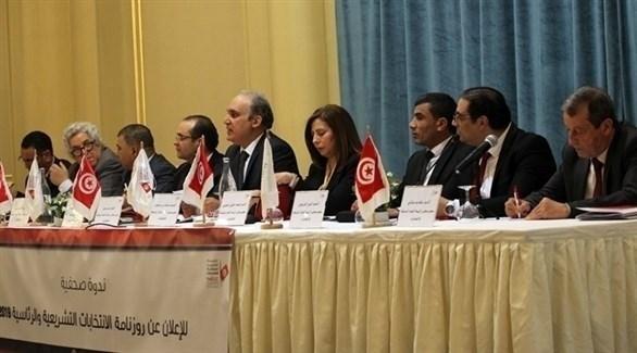 ندوة صحفية للإعلان عن مواعيد الانتخابات التشريعية والرئاسية في تونس (أرشيف)