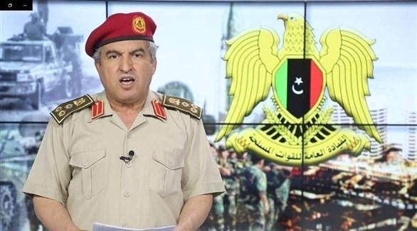 العميد خالد المحجوب من المركز الإعلامي لغرفة عمليات الكرامة بالجيش الوطني الليبي (أرشيف)
