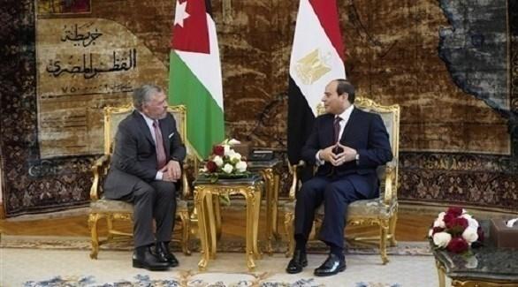 السيسي والملك عبد الله (أرشيف)