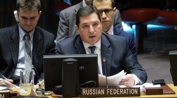 نائب المندوب الروسي لدى الأمم المتحدة، فلاديمير سافرونكوف (أرشيف)