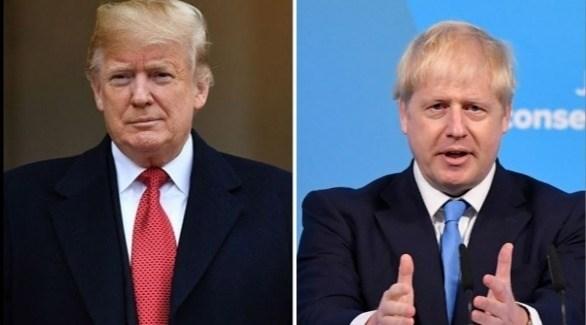 الرئيس الأمريكي دونالد ترامب ورئيس الوزراء البريطاني جونسون (أرشيف)