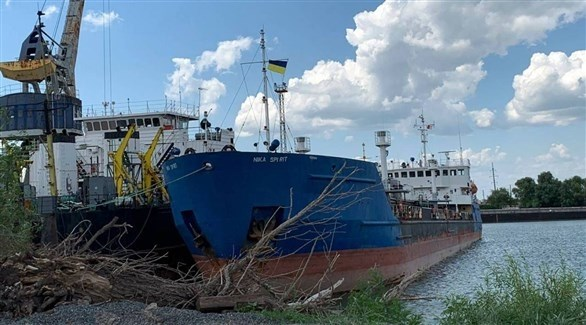 ناقلة النفط الروسية التي احتجزتها أوكرانيا (أ ف ب)