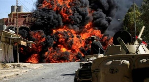انفجار سابق في مخزن للحشد الشعبي الموالي لإيران في العراق (أرشيف)