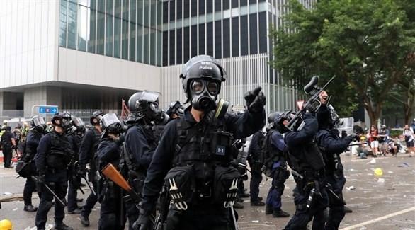 قوات مكافحة الشغب في هونغ كونغ (أرشيف)