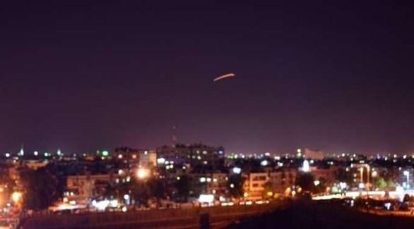 صاروخ في سماء العاصمة السورية دمشق (أرشيف)