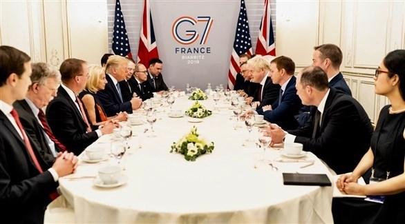 الرئيس الأمريكي ترامب ورئيس الوزراء البريطاني جونسون (تويتر)