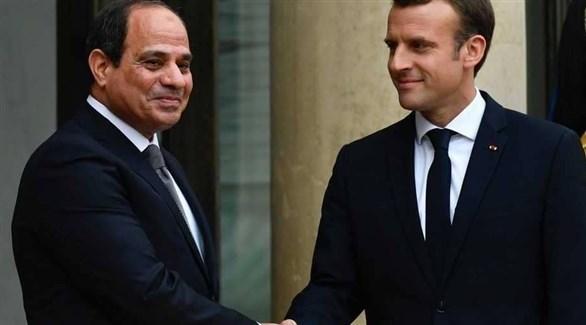 الرئيسان المصري عبد الفتاح السيسي والفرنسي إيمانويل ماكرون (أرشيف)