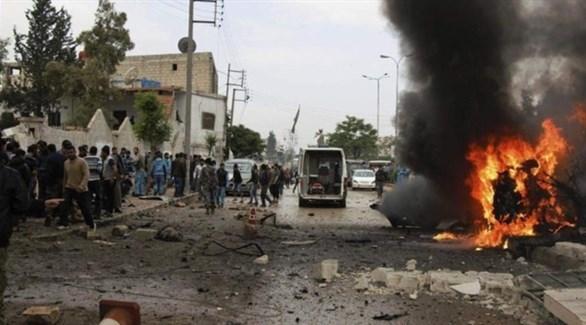 انفجار سابق لسيارة مفخخة في الرقة (أرشيف)