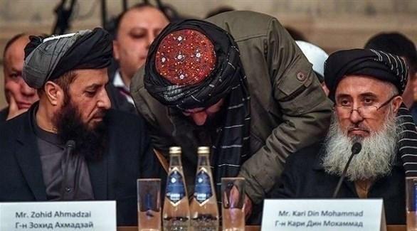 وفد من حركة طالبان خلال المباحثات مع الولايات المتحدة (أرشيف)