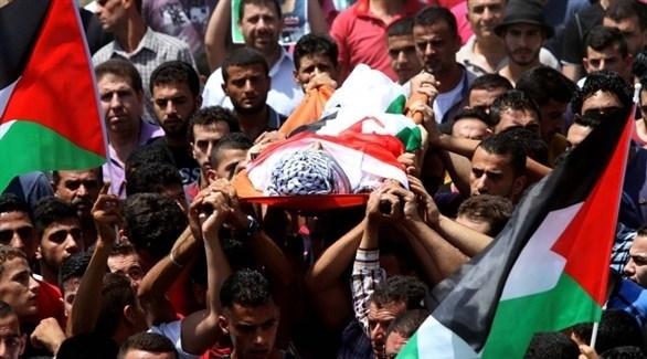 جانب من تشييع أحد الشهداء في فلسطين (أرشيف)