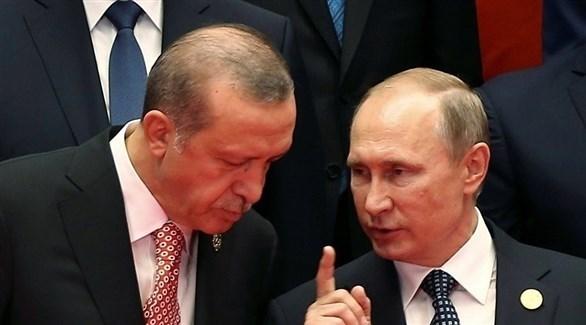 الرئيسان الروسي فلاديمير بوتين والتركي رجب طيب أردوغان (أرشيف)