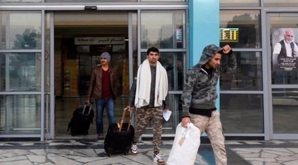 لاجؤون أفغان عائدون إلى بلادهم من ألمانيا (أرشيف)