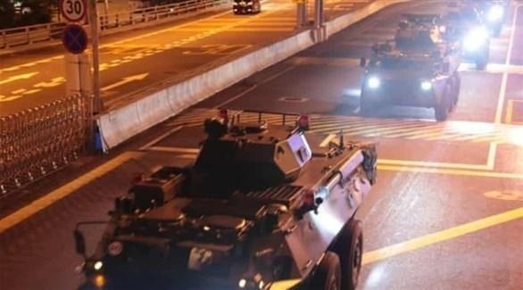 قوات صينية تدخل إلى هونغ كونغ (أرشيف)