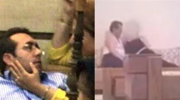 لقطتان من الفيديوهات المسربة