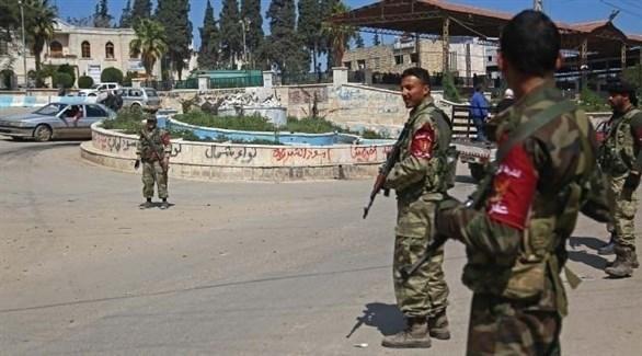 مقاتلون في ميليشيات تركية بعفرين (أرشيف)