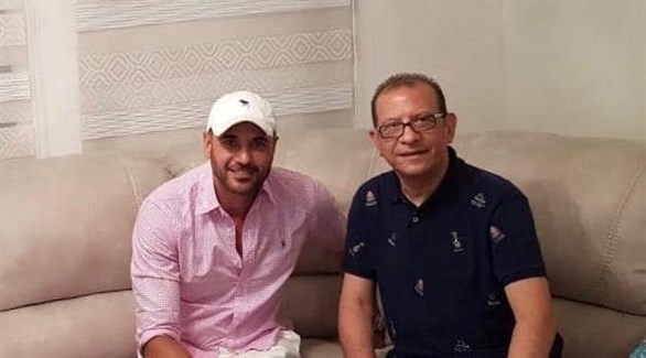 أحمد عز مع المحامي أشرف عبدالعزيز (فيس بوك)