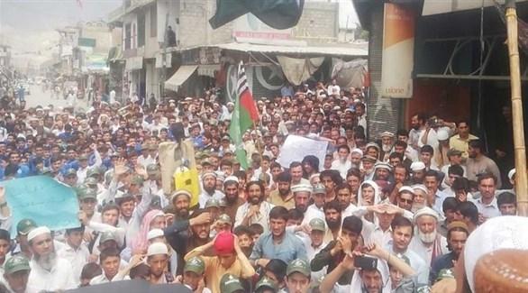 جانب من تظاهرات كشمير (تويتر)